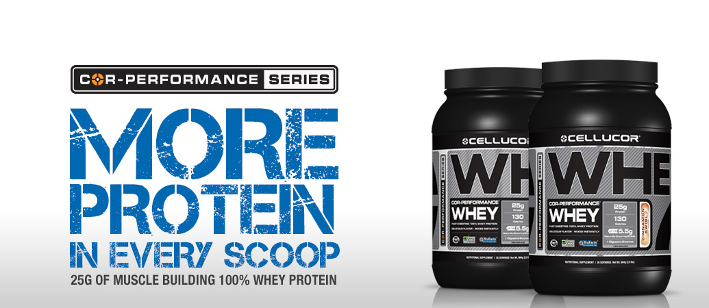 Cellucor COR-Performance Whey protein Banner