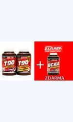 AKCE T90 - Testosterone Booster 120cps+120cps+BCAA Malate 120cps ZDARMA