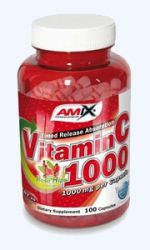 Vitamín C 1000mg + rose hip extract 100cps AMIX