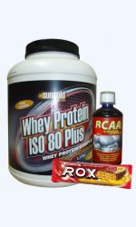 Whey Protein ISO 80 Plus 2,2kg + BCAA liguid 500ml + Rox protein bar 60g