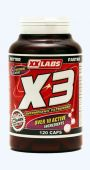 XXLabs X3 Thermogenic Fat Burner 120 kapslí